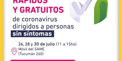Hoy y el jueves se realizarán testeos en el Polideportivo José Hernández 11