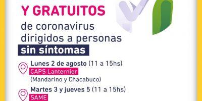 Hoy el SAME hará testeos a asintomáticos en Barrio Jorge Newbery 7