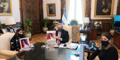 En medio de los reclamos por el estancamiento de la investigación, Alberto Fernández recibió a familiares de Guadalupe Lucero 10