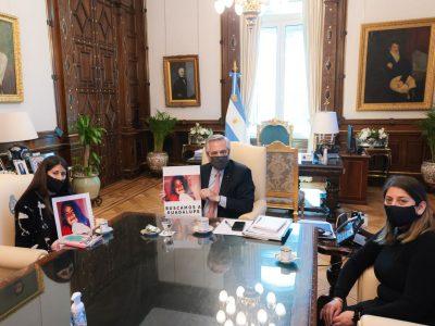 En medio de los reclamos por el estancamiento de la investigación, Alberto Fernández recibió a familiares de Guadalupe Lucero 5