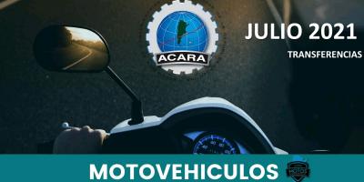 En julio se transfirieron 30.543 motovehículos 9