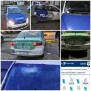 Dos móviles dañados tras disturbios en la madrugada 3