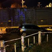 Colisión entre un tren y un auto 2