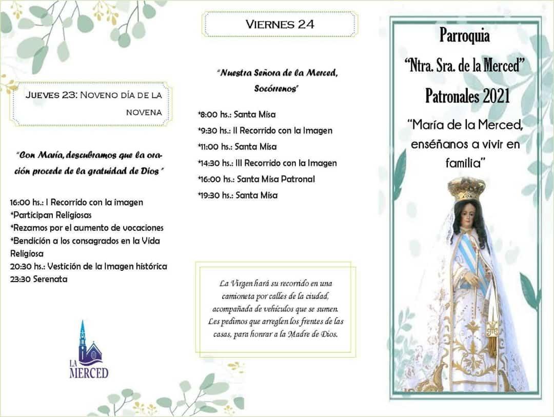 Fiestas patronales: Cronograma y recorrido de la imagen de la Virgen 4
