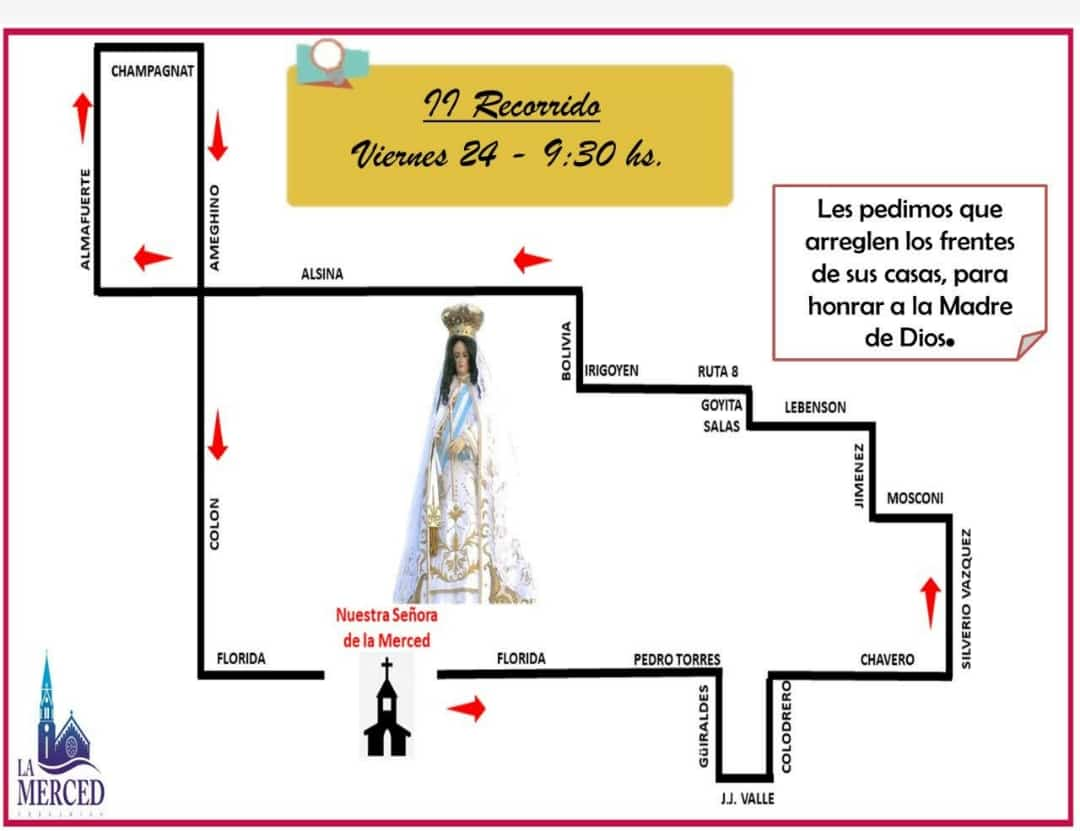 Fiestas patronales: Cronograma y recorrido de la imagen de la Virgen 2