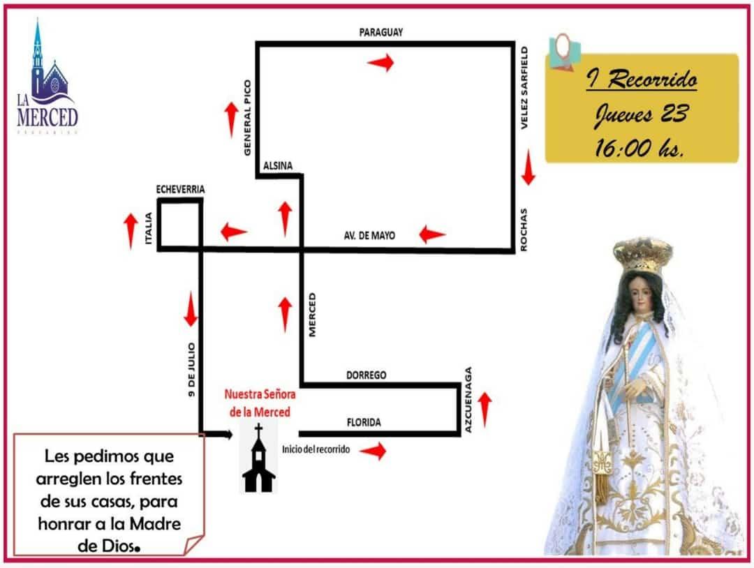 Fiestas patronales: Cronograma y recorrido de la imagen de la Virgen 1