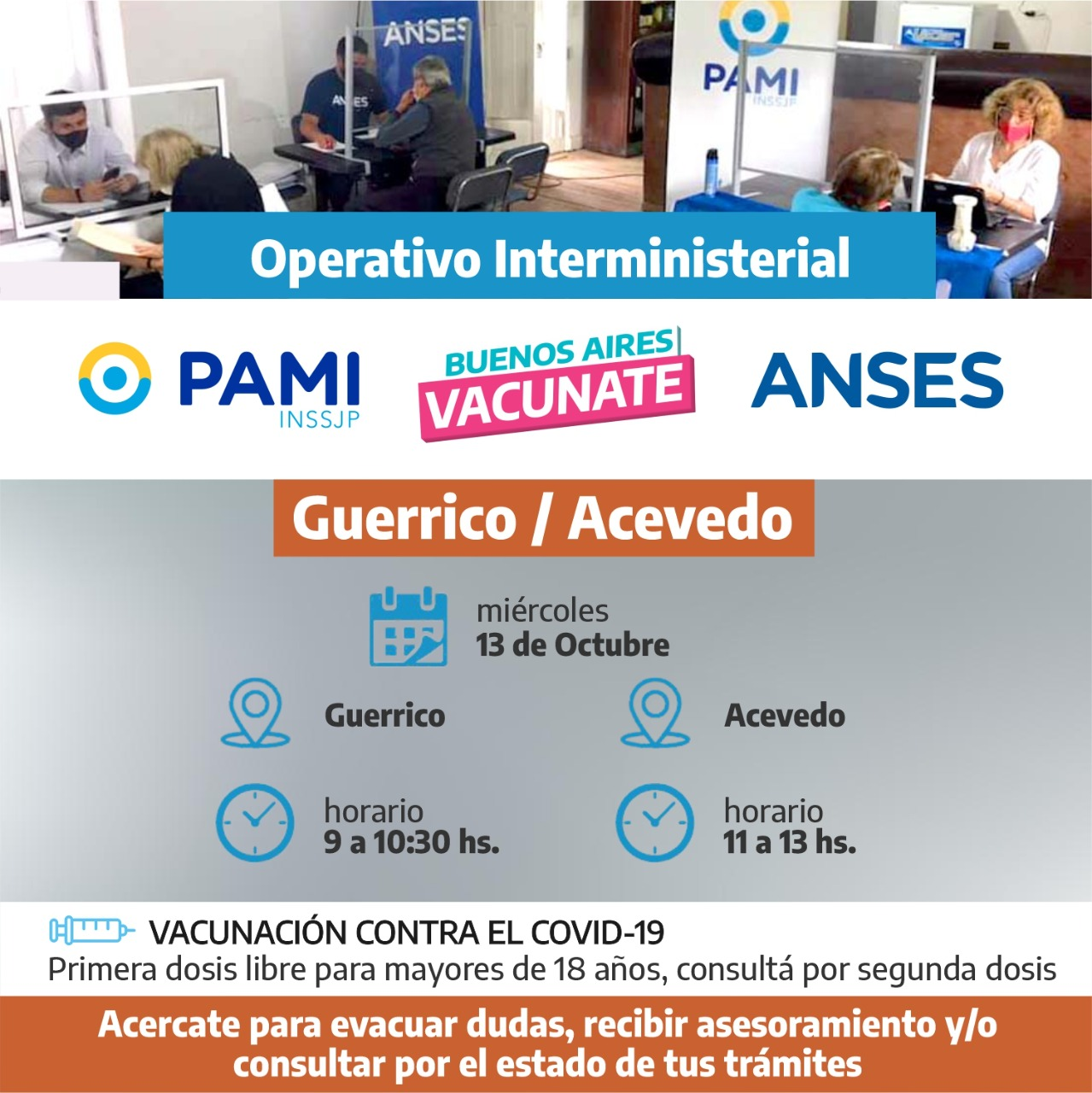Operativo ANSES-PAMI en Acevedo y Guerrico 1