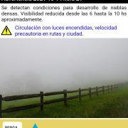 Defensa Civil advierte sobre la posibilidad de neblinas matinales 2