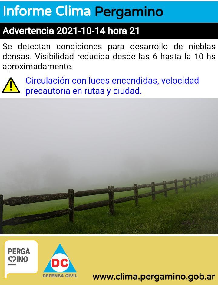 Defensa Civil advierte sobre la posibilidad de neblinas matinales 1