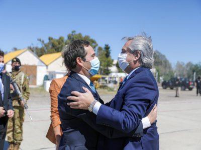 Capitales Alternas: Alberto Fernández llegó a Chubut 1